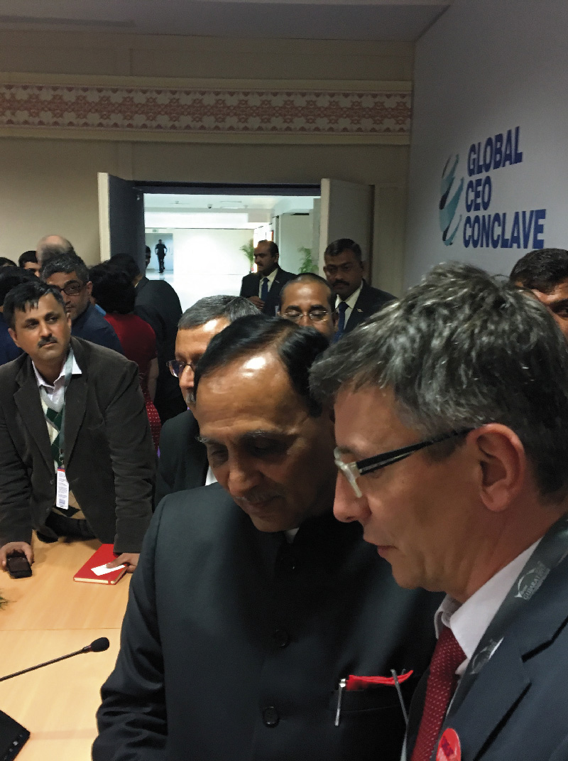 Meeting with Vijay Rupani chief Minister of Gujarat